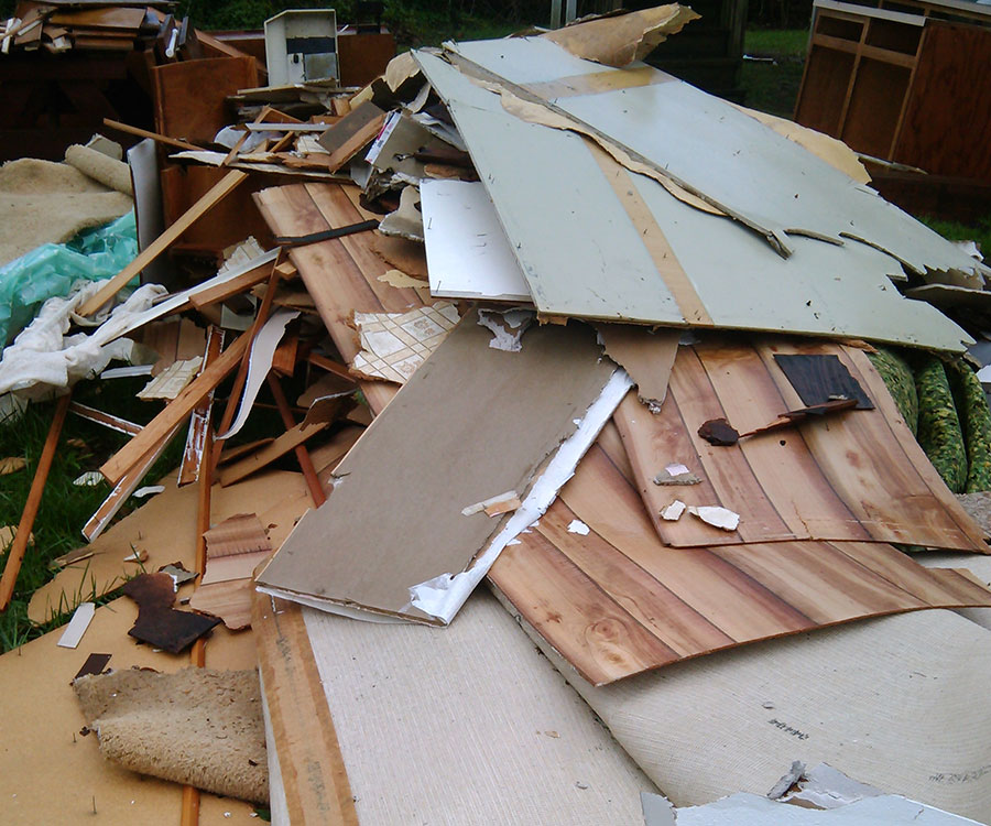 Portland, Oregon's The Faster Hauling removes home renovation debris